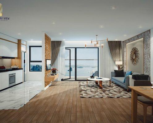 phòng khách căn hộ Hạ Long Bay View